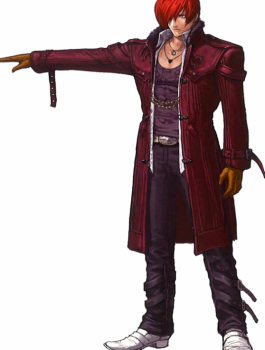 King Of Fighters Iori Yagami XIV Cosplay Leather Coat