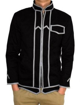 Aovei Sword Online Cosplay Art Leather Jacket