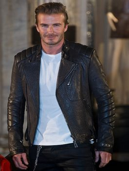 David Beckham Belstaff House Opening Photocall Jacket