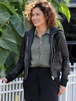 Shades Of Blue Jennifer Lopez Black Leather jacket