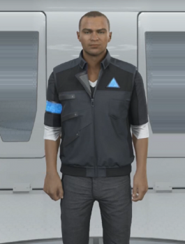 Detroit Become Human Markus Costume Gray Vest