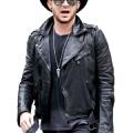 Adam Lambert Singer Songwriter Motorcycle Leather Jacket