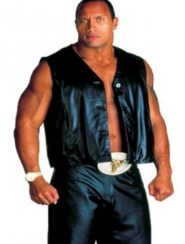 The Rock Biker Leather Vest