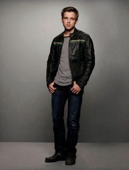 Bates Motel Max Thieriot Dylan Massett Black Leather Jacket