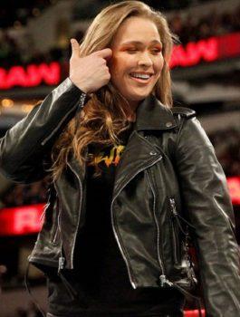 Ronda Rousey Brando Biker Jacket