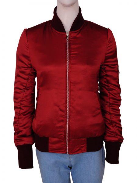 Red Bomber jacket, Women's Fashion