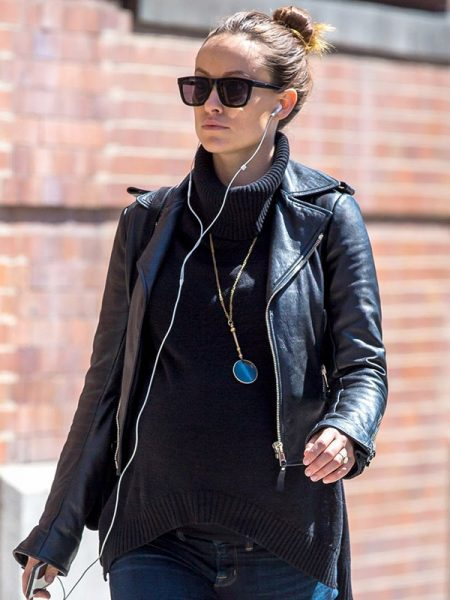 Olivia Wilde Black Leather Jacket