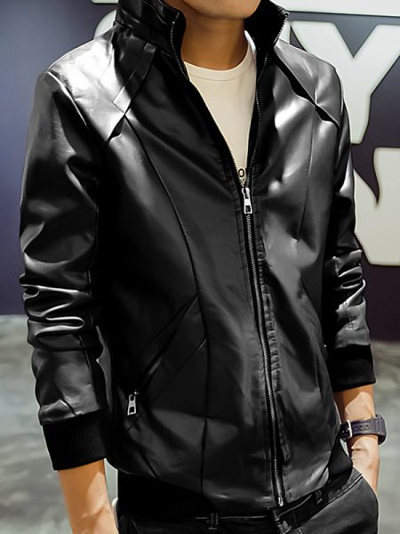 Mens Fashion Jet Black Jacket