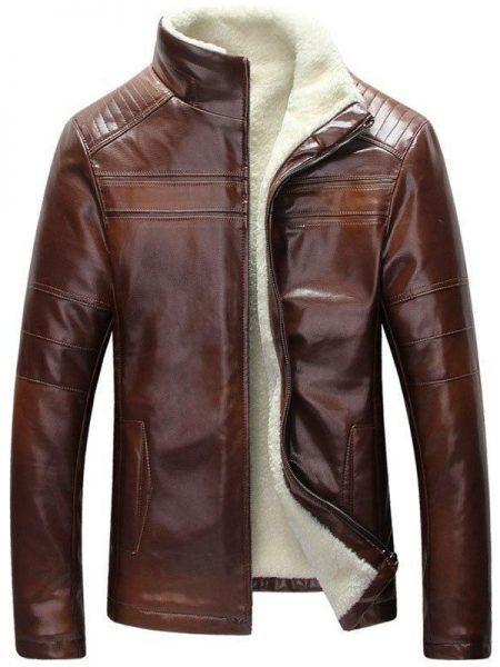 Men Perfect Slimfit Leather Jacket