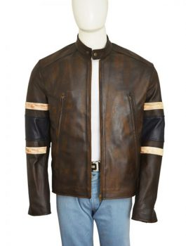 X-Men Logan Hugh Jackman Distress Brown Jacket