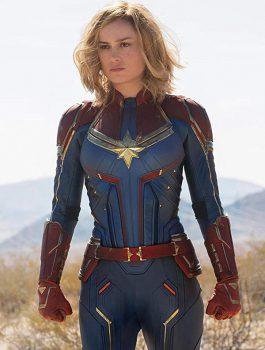 Brie Larson Captain Marvel Costume Jacket