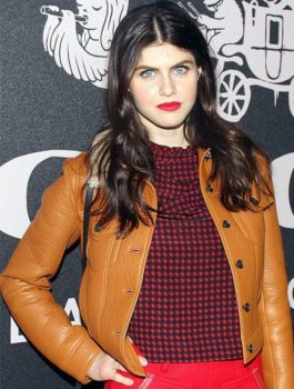 Alexandra Daddario Brown Jacket