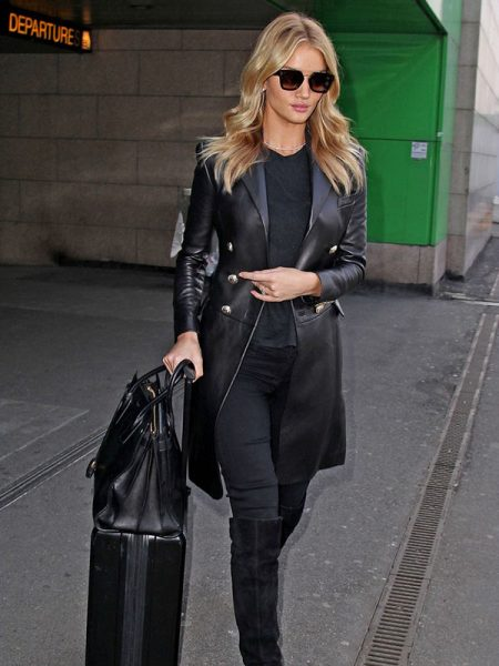 Rosie Huntington-Whiteley Leather Coat