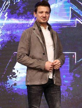 Avengers Endgame Jeremy Renner Suede Jacket