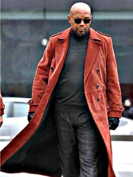 Movie Shaft Samuel L. Jackson Suede Coat