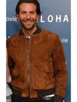 Bradley Cooper Brown Suede Jacket
