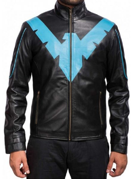 Stand Collar, Leather Jacket