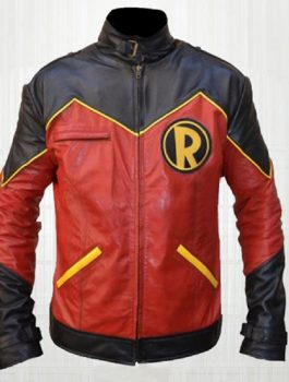 Drake Robin Leather Jacket, Red & Black Leather Jacket