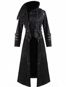 Womens Coat Long Jacket, Abstract Punk