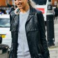 Fringed Style Leather Jacket, Ladies Jacket