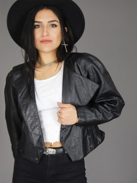 Vintage Michael Leather jacket, Women's fashion