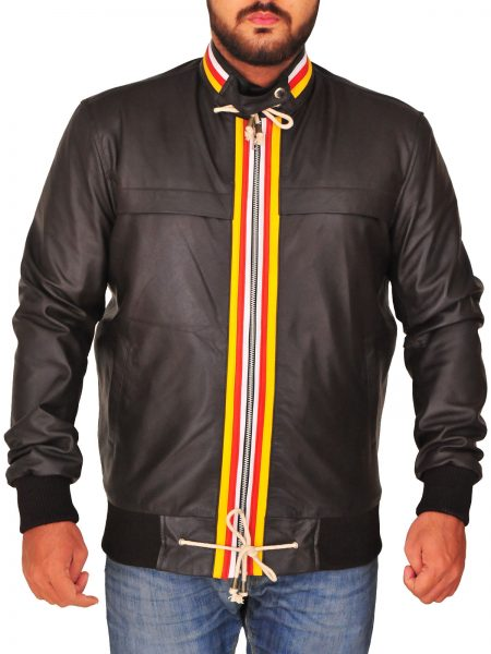 top footballer ,colorful jacket , colored strip line , red n yellow