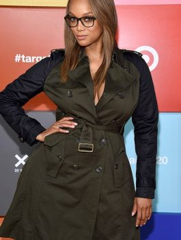 Tyra Lynne Banks Cotton voguish Coat F-C-C