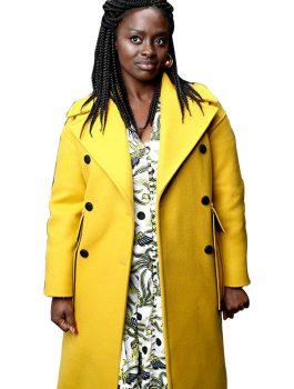 Aïssa Maïga Wool Trench Coat