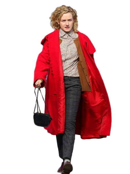 MODERN LOVE JULIA GARNER RED COAT