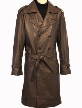 Shaft Richard Roundtree Leather Coat