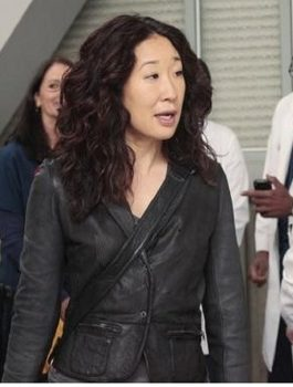 Grey's Anatomy, Sandra Oh Black Leather Jacket