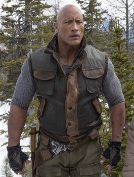 Dwayne Johnson Leather Vest