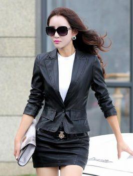 Button-Style-slim-fit-Black-Blazer