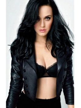 Katy Perry Stylish Leather Jacket