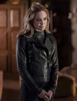 08 Caity Lotz Leather Jacket
