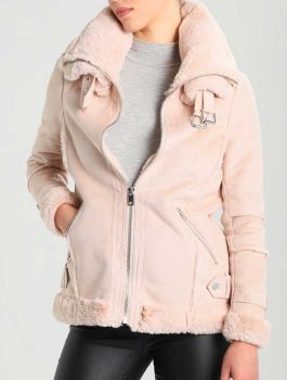 Womens-Pink-Leather-Shearling-Jacket