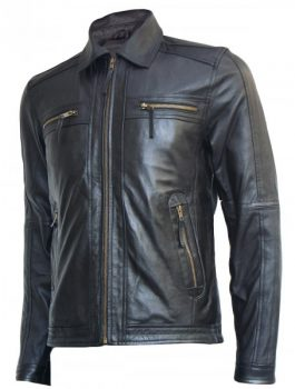 Black Leather Jacket Men