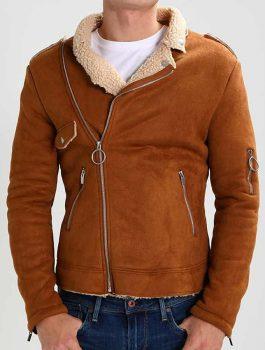 Mens-Camel-Brown-Suede-Leather-Motorcycle-Jacket