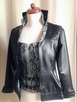 The Flash Season 3 Killer Frost Black Leather Jacket