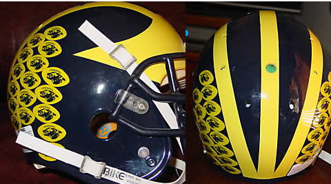 how to make your hockey helmets like michigan wolverines