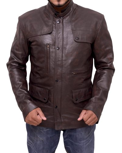 iconic Brown Men leather jacket