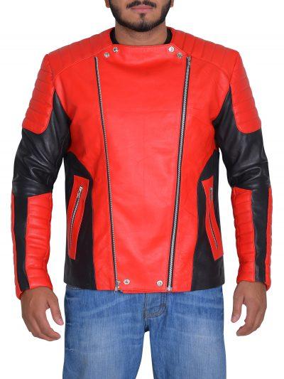 Stylish Men Motorcycle Leather Jacket
