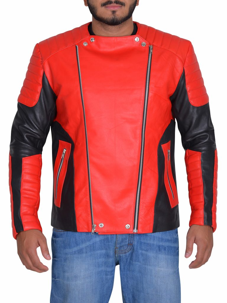 Stylish Men Motorcycle Leather Jacket