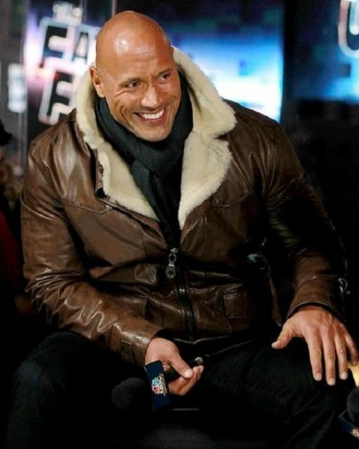 FURIOUS 8 DWAYNE JOHNSON LEATHER JACKET