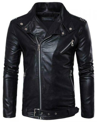 Biker Leather Jacket for Mens