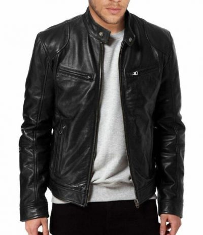 Black Genuine Lambskin Leather Jacket