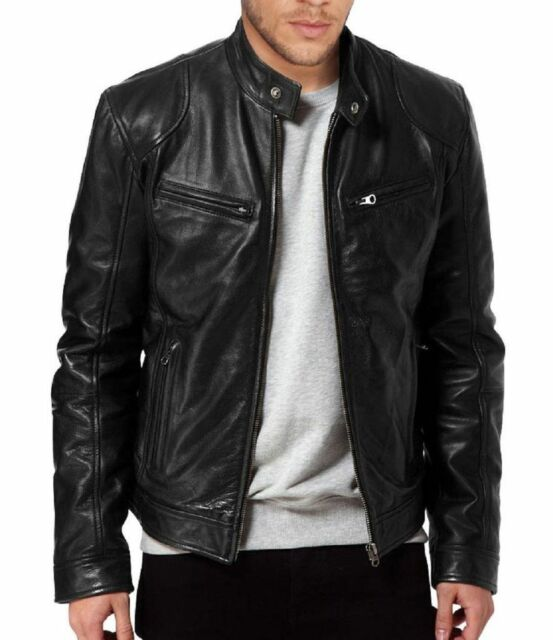 Black Genuine Lambskin Leather Jacket