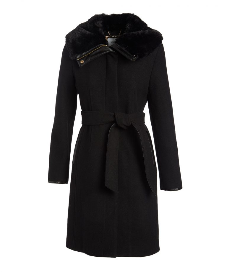 Black Wool-Blend Coat - Women