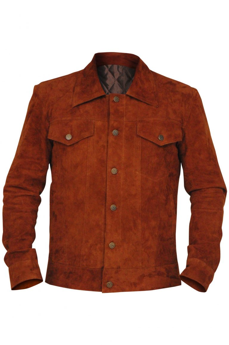 Brown Real Suede Leather Jacket