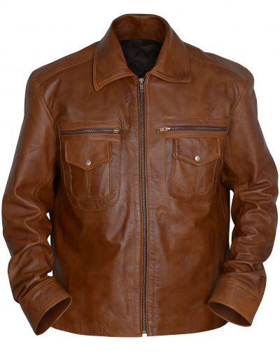 Vintage Brown Biker Leather Jacket